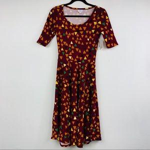 LULAROE NICOLE triangle design dress